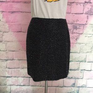 Cache beaded black mini skirt